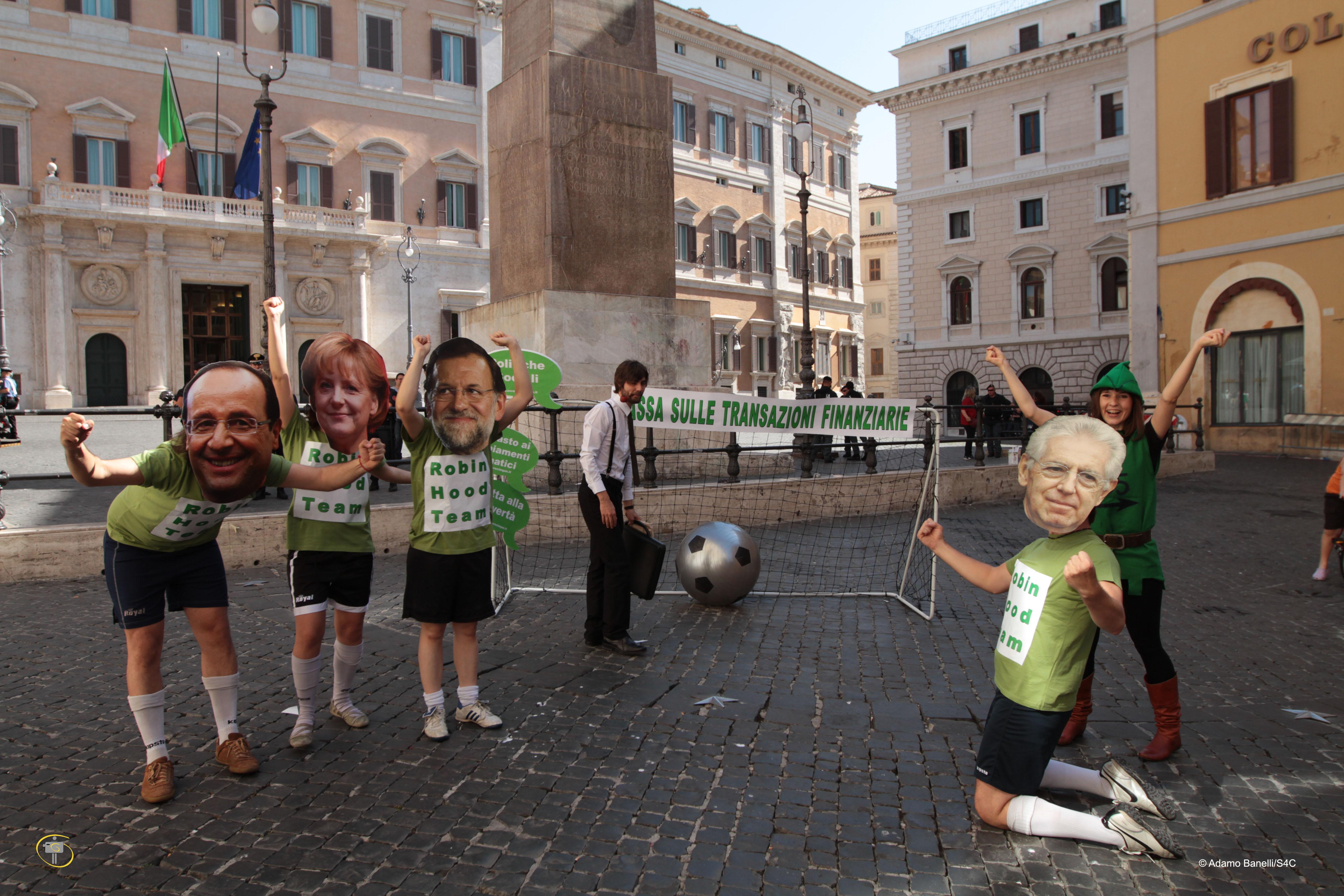 Manifestazione del 22 giugno 2012 a piazza Montecitorio a Roma